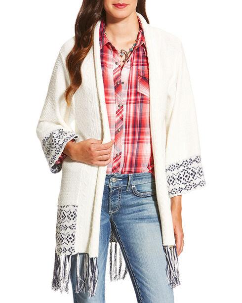 Ariat Women's Pondera Sweater, White, hi-res