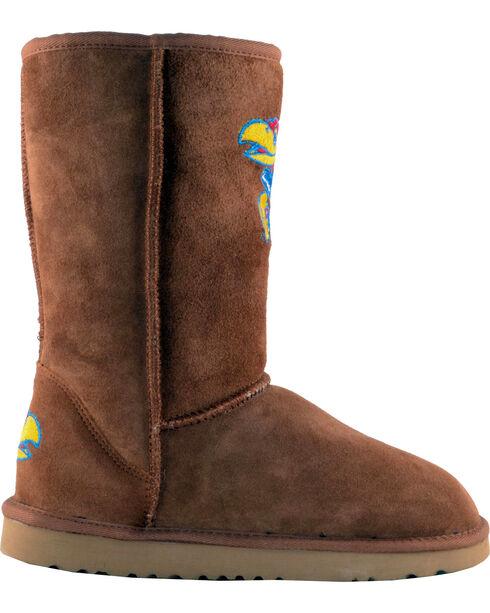Gameday Boots Women's University of Kansas Lambskin Boots, Tan, hi-res