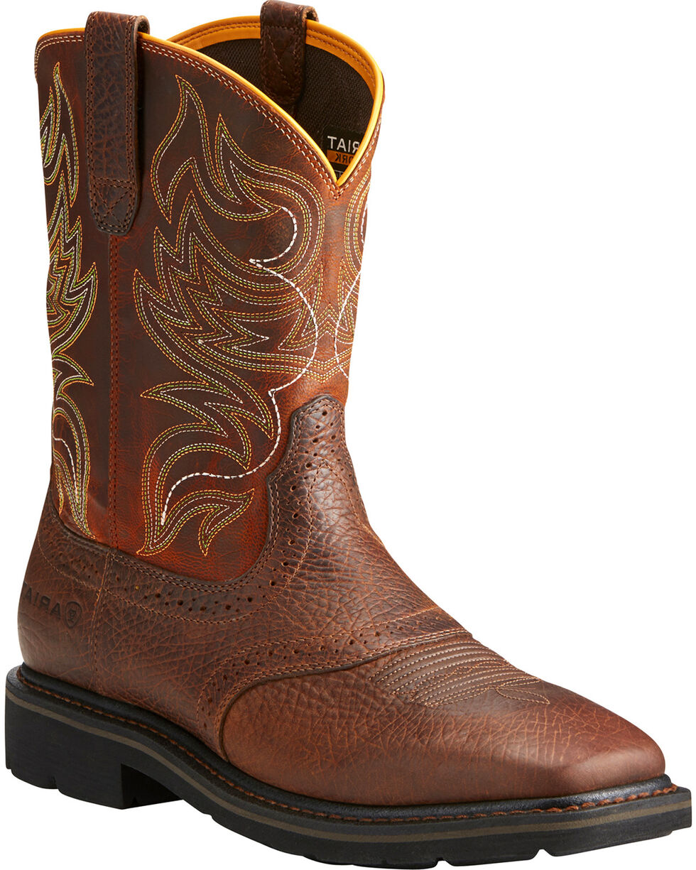 Ariat Men's Sierra Shadowland Work Boots, Brown, hi-res