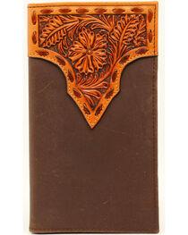 Nocona Stitched Floral Rodeo Wallet, , hi-res