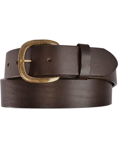 Justin Men's Leather Work Belt, Brown, hi-res