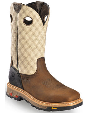 Justin Men's Commander-X5 Steel Toe Work Boots, Tan, hi-res