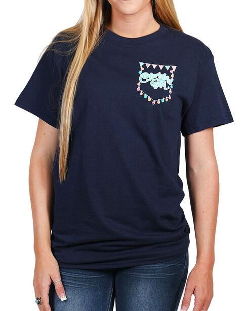 "Cherished Girl Women's ""Shine"" Short Sleeve T-Shirt, Navy, hi-res"