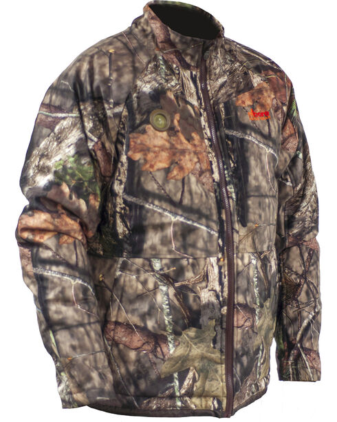 My Core Control Men's Mossy Oak Rut Soft-Shell Heated Jacket , Camouflage, hi-res