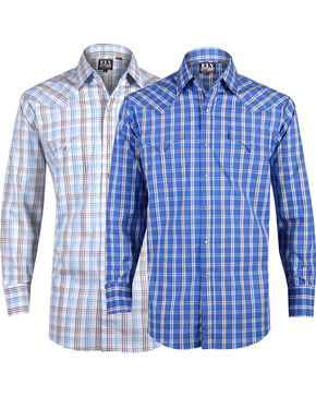 Ely Cattleman Men's Assorted Premium Cotton Plaid Long Sleeve Western Shirt, Multi, hi-res