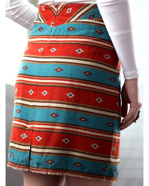 Ryan Michael Women's Serape Stripe Skirt, Chili, hi-res