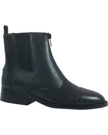 Smoky Mountain Women's Zipper Leather Paddock Boots, , hi-res
