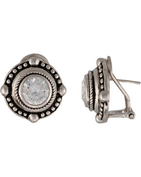 Montana Silvermiths Women's A Gaze Upon the Night Earrings, Antique Silver, hi-res