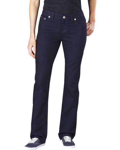 Dickies Women's Slim Fit Stretch Denim Jean, Vintage Dark, hi-res