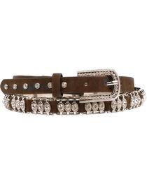 Nocona Metal Bar Crystal Belt, , hi-res