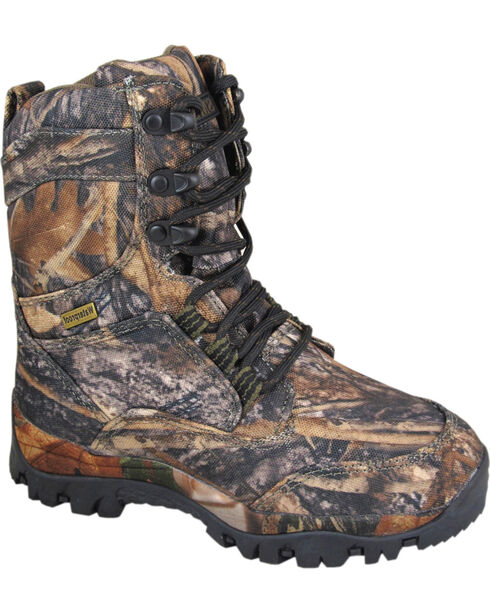 Smoky Mountain Boys' Hunter Camo Lace-Up Boots, Camouflage, hi-res