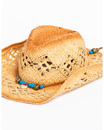 ále by Alessandra Women's Waimea Cowgirl Raffia Hat , , hi-res