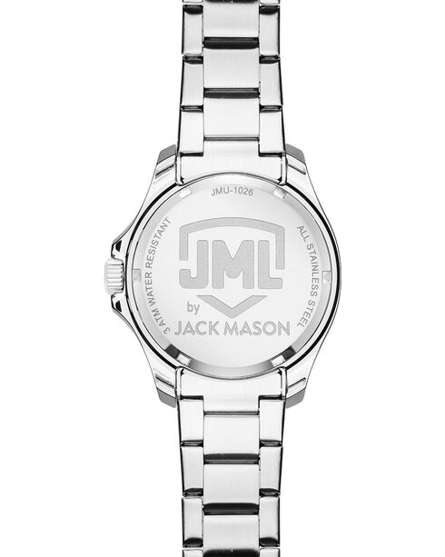 Jack Mason Women's Texas Glitz Sport Watch , Silver, hi-res
