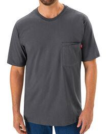Red Kap Men's Safety Grey Solid T-Shirt , , hi-res