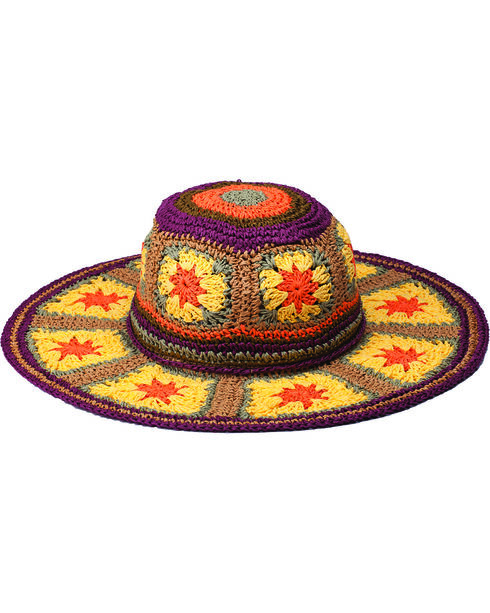 Peter Grimm Fergie Multi-Color Woven Sun Hat, Multi, hi-res