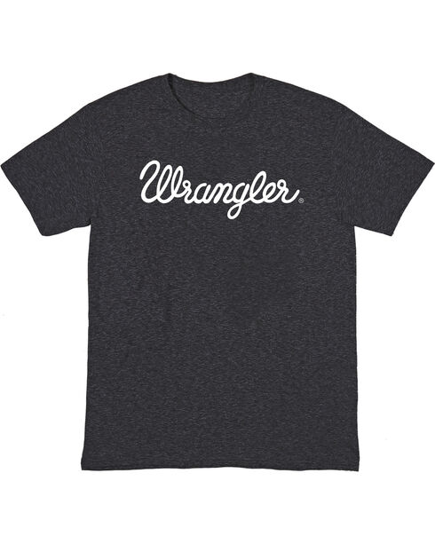 Wrangler Men's Logo Short Sleeve T-Shirt, Black, hi-res
