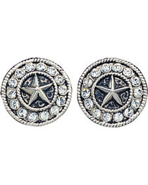Montana Silversmiths Women's Star Concho Western Earrings, , hi-res