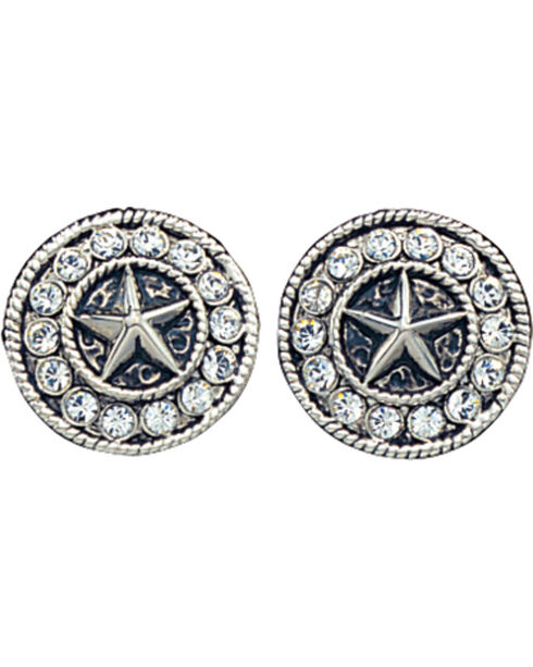 Montana Silversmiths Women's Star Concho Western Earrings, Silver, hi-res