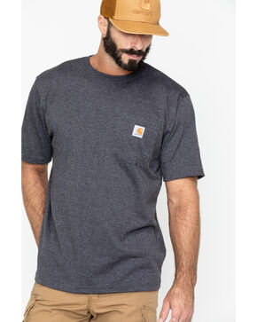 Carhartt Men's Force Cotton Short Sleeve Shirt, Charcoal Grey, hi-res