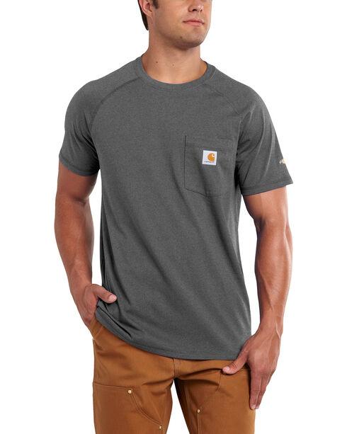 Carhartt Men's Force Cotton Short Sleeve Shirt - Big & Tall, Charcoal Grey, hi-res