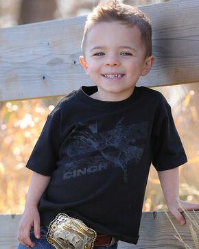 Cinch Toddler Boys' Bucking Bronco Screen Print Tee, Black, hi-res