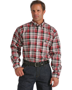Cinch WRX Men's Flame Resistant Long Sleeve Work Shirt, Plaid, hi-res