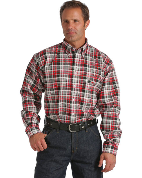 Cinch WRX Men's Flame Resistant Long Sleeve Work Shirt, Plaid, hi-res