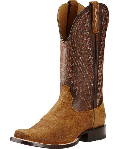 Ariat Men's Hoolihan Western Boots, Tan, hi-res