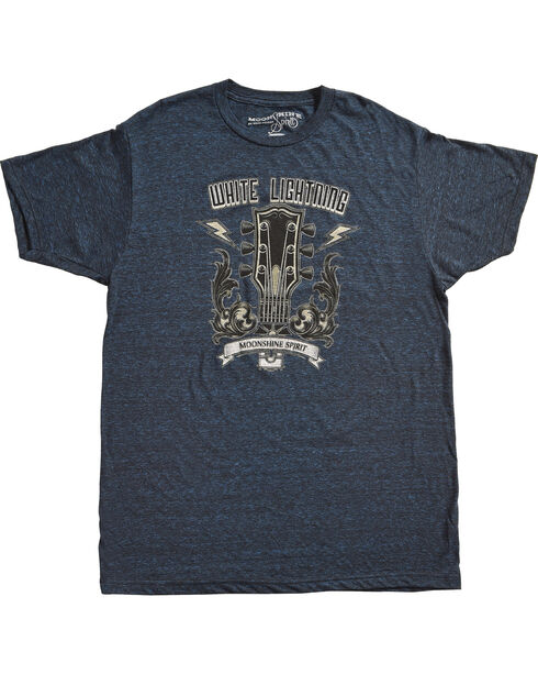 Moonshine Spirit Men's White Lightning Guitar Head Tee, Dark Blue, hi-res