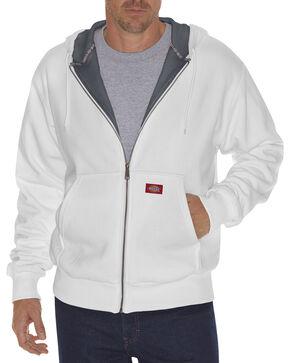 Dickie's Men's Thermal Lined Fleece Hoodie, White, hi-res