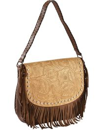 Blazin Roxx Fringe Embossed Messenger Bag, , hi-res