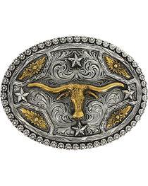 Cody James® Oval Long Horn Belt Buckle, , hi-res