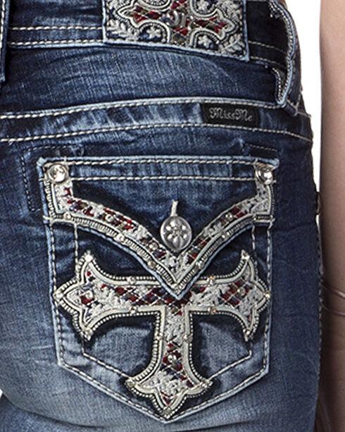 Miss Me Women's Indigo Reign Supreme Mid-Rise Jeans - Boot Cut , Indigo, hi-res