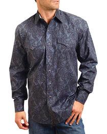 Stetson Men's Smokey Printed Long Sleeve Shirt, , hi-res