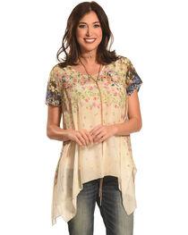 Johnny Was Women's Ziara Handkerchief Babydoll Shirt , , hi-res