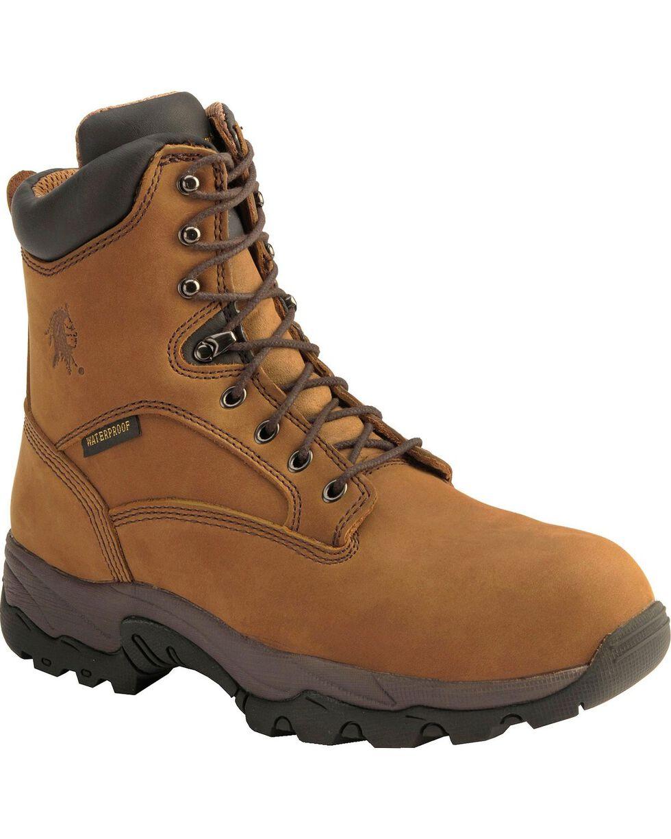 Chippewa Men's Safety Toe Waterproof Work Boots, Bay Apache, hi-res