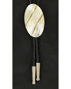 Oval Gold Striped Bolo Tie, Multi, hi-res