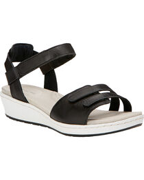 Ariat Women's Black Leisure Time Ankle Strap Sandals , , hi-res