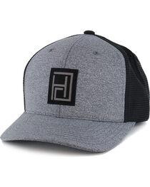 HOOey Men's Reflective Minimal Logo Snapback, Grey, hi-res