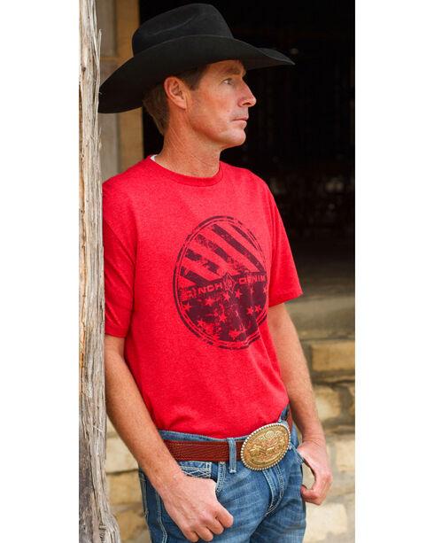 Cinch Men's Red Logo Short Sleeve Tee, Red, hi-res