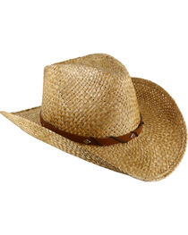 Cody James® Embellished Leather Cord Straw Hat, , hi-res