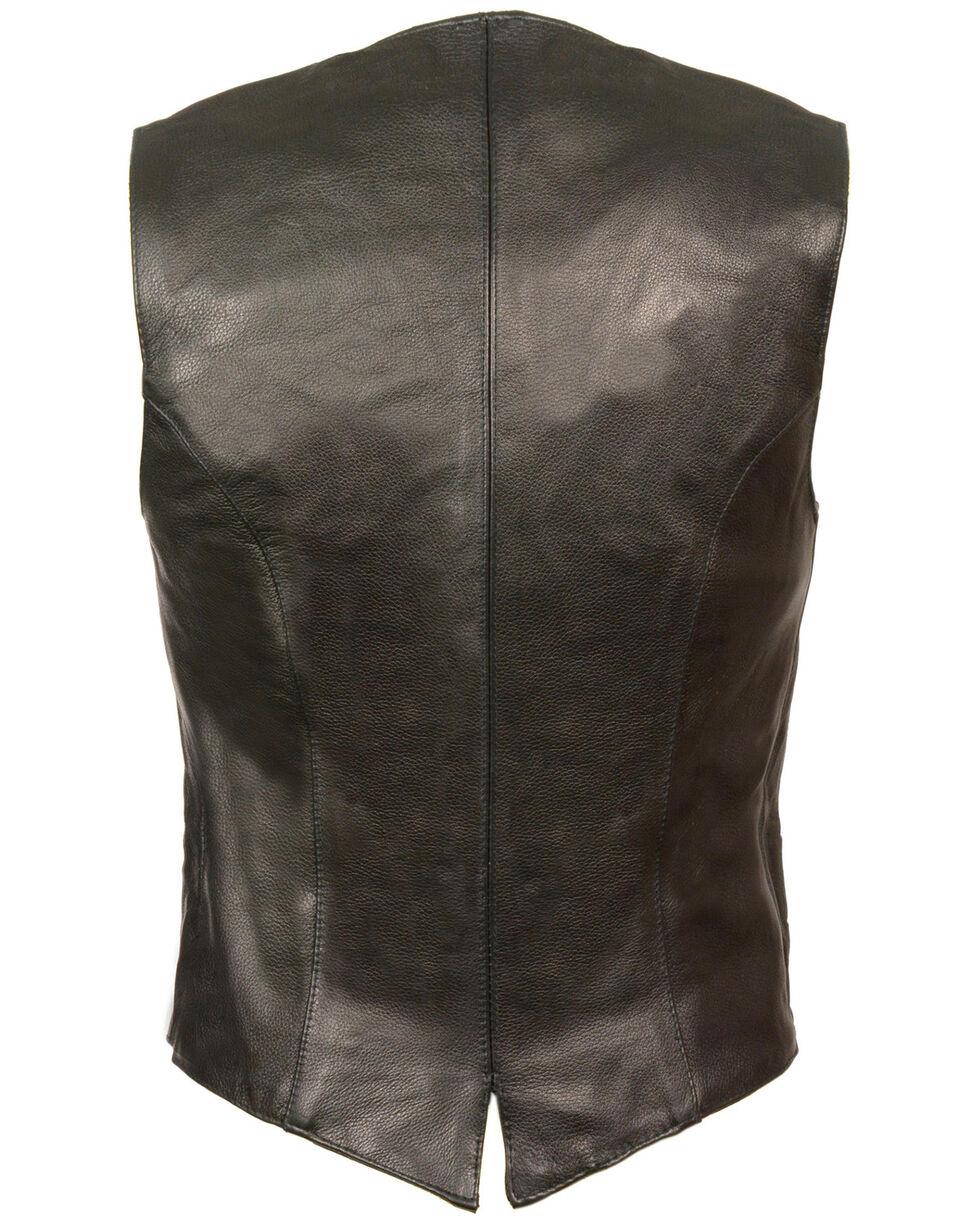 Milwaukee Leather Women's Classic Snap Front Vest - 5X, Black, hi-res