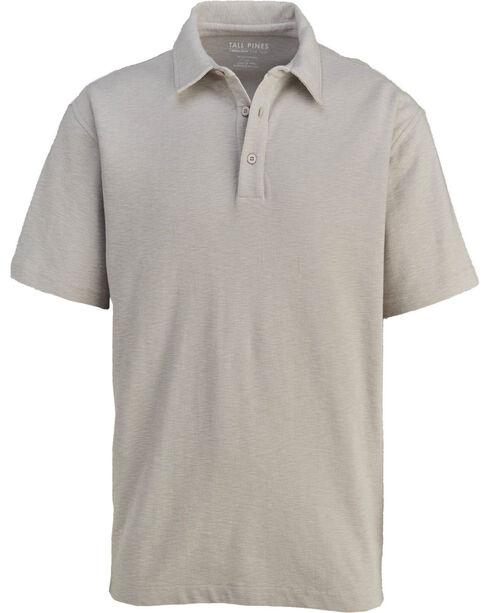 Woolrich Men's Tall Pine Slub Polo Shirt , Grey, hi-res