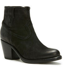 Frye Women's Black Lillian Western Booties - Round Toe , , hi-res