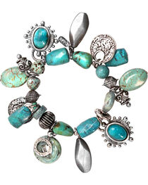 Treska Mykonos Stretch Multi-Dangle Bracelet , , hi-res
