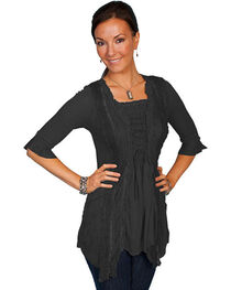 Scully Honey Creek Ruffle Sleeve Lace Top, , hi-res