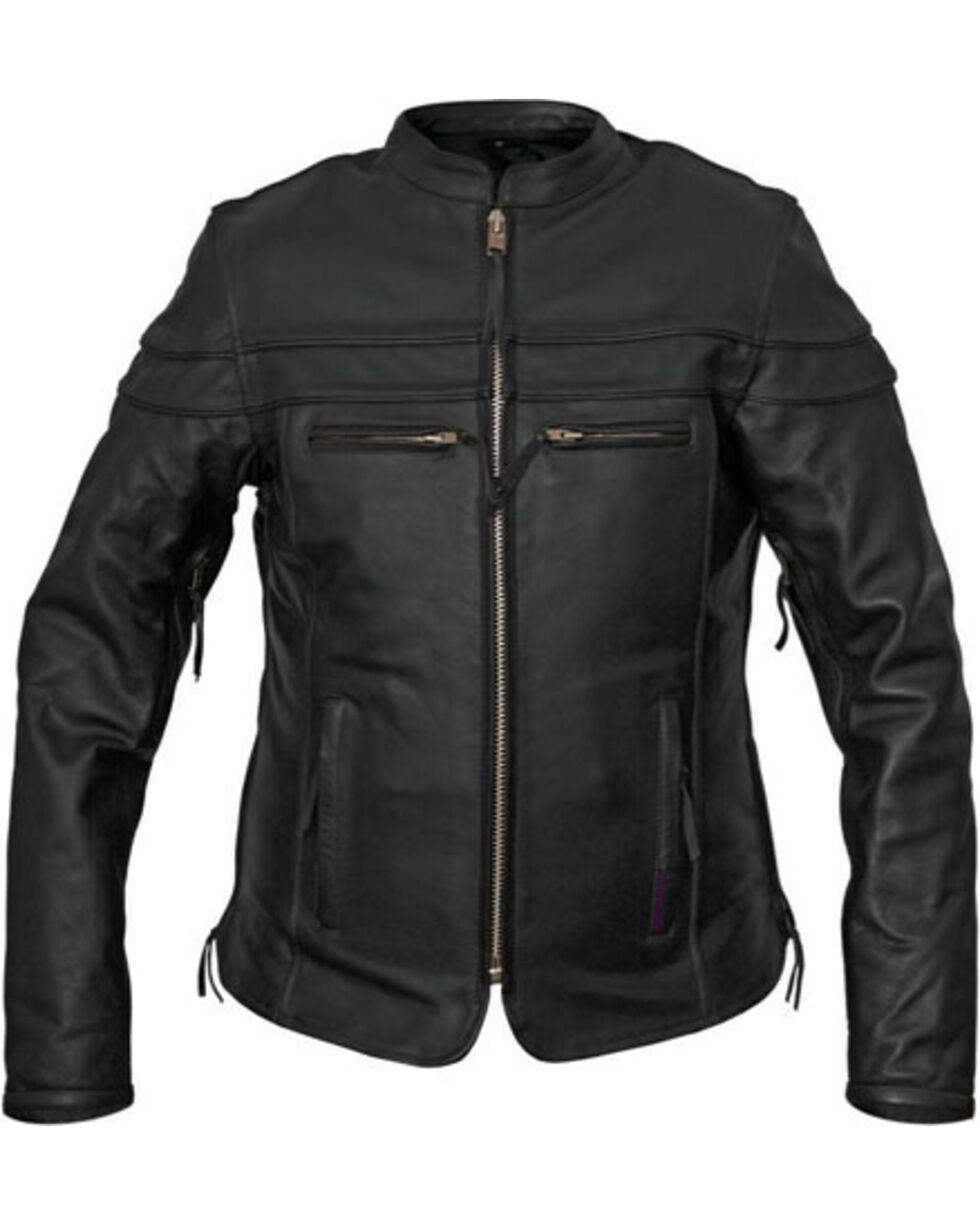 Interstate Leather Women's Moxie Leather Scooter Jacket, , hi-res