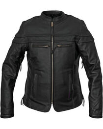 Interstate Leather Women's Moxie Leather Motorcycle Jacket, , hi-res