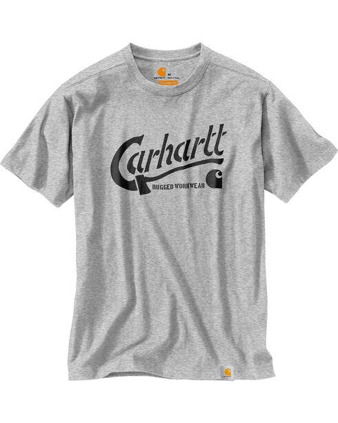 Carhartt Men's Maddock Graphic Ax Short Sleeve Tee , Heather Grey, hi-res