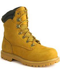 Chippewa Men's Waterproof Steel Toe Nubuc Work Boots, , hi-res